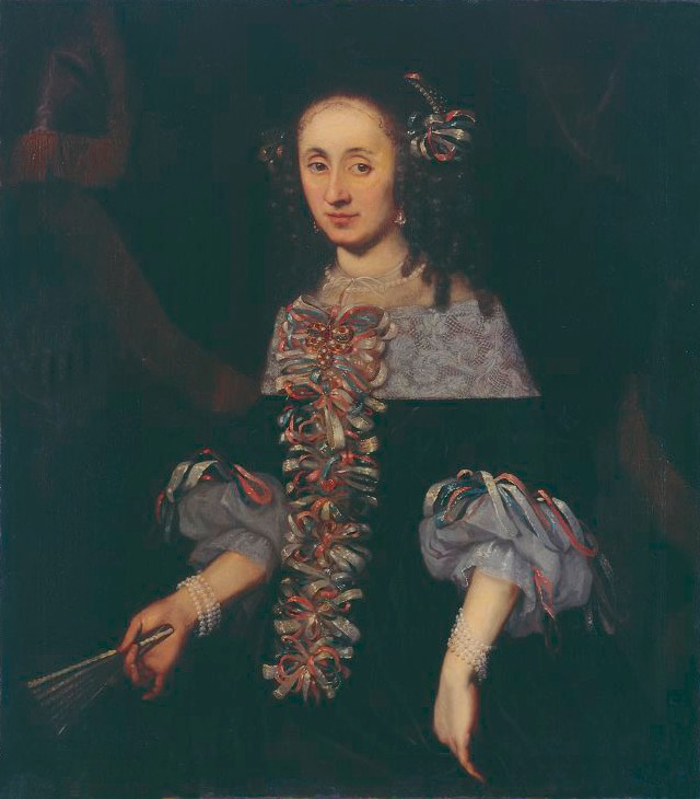 ca. 1660 Justina Katharina Kirchmayr, née Imhof (?-1686) by Daniel Preisler (location ?) From Pinterest search shadows inc. exp. deline