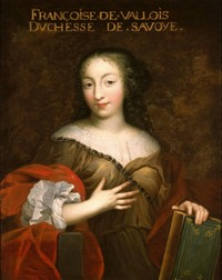 ca. 1664 Françoise Madeleine d'Orléans, Mademoiselle de Valois prior to her marriage by the Beaubrun brothers workshop (location unknown to gogm) from altesses.eu
