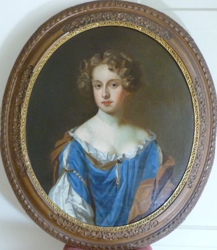 ca. 1670 Lady of the Popham family by the circle of William Wissing (for sale by Roy Precious) X 2