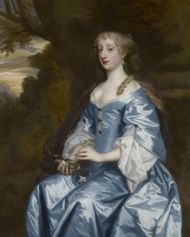 ca. 1670 Lady, possibly Bridget Cockayne, wife of the Rev. Hon, John Feilding by studio of Sir Peter Lely (private collection) From weissgallery.com-paintings-lady-possibly-bridget-cockayne-wife-rev-hon-john-feilding