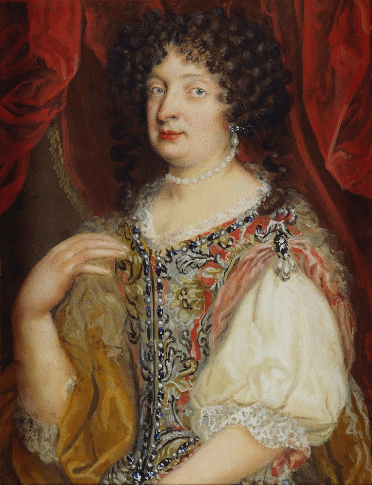 ca. 1670 Sophia, Electress of Hanover, mother of George I, by Jean Michelin (Royal Collection) From pinterest.com/lomovskayaolga/women-4/.jpg