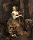 ca. 1671 (estimate based on age of child) Presumed to be Madame de Montespan with her infant son the Duc de Maine after Caspar Netscher (auctioned by Christie's) From pinterest.ie/polelyr/нетшер-каспар-netscher-caspar-1639-1684/.jpg