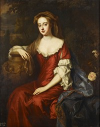 ca. 1683 Amelia of Nassau, Countess of Ossory by Willem Wissing (Royal Collection, Kensington Palace - London, UK) From pinterest.com:pin:464644886532333881: