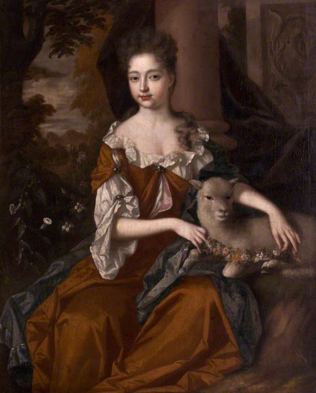 ca. 1693 Urith Pole, Lady Trevelyan, attributed to John van der Vaart (Antony House - Torpoint, Cornwall, UK) bbc.co