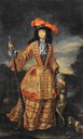 ca. 1695 Anna Maria Luisa de' Medici in hunting dress by Jan Frans van Douven (Palazzo Pitti - Firenze, Toscana Italy)