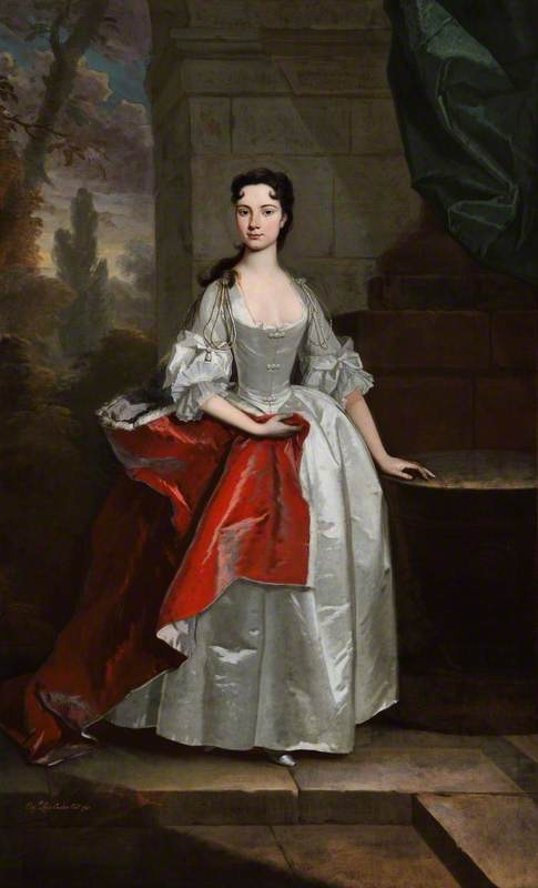 ca. 1700-1715 Lady Onslow, née Elizabeth Knight attributed to Hans Hysing (Clandon Park - West Clandon, Guildford, Surrey, UK) From pinterest.com:lmmalter:historical-fashion-18th-century: