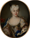 ca. 1720 Maria Clementina Stuart, geborene Sobieska by Antonio David (Umkreis) (Tansey Miniatures Foundation collection, Bomann-Museum - Celle, Niedersachsen, Germany) From tansey-miniatures.com-sammlung