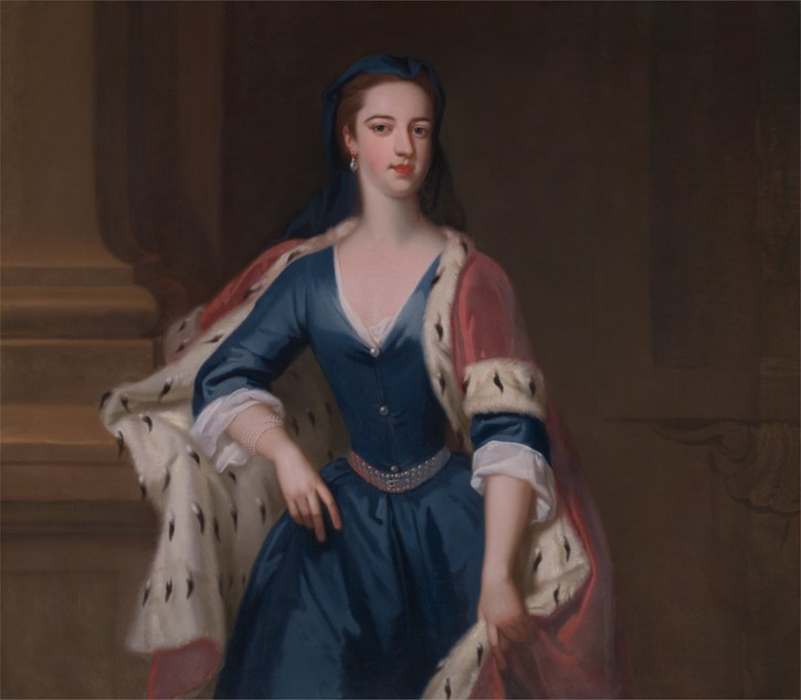 ca. 1725 Lady Anne Cavendish, née Yale, by Jonathan Richardson the Elder (Yale Center for British Art - New Haven, Connecticut, USA) Google Art Project vis Wm size fixed 80 cm high at 28.35 pixels/cm