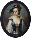 ca. 1730 Rhoda Apreece, Mrs Francis Blake Delaval attributed to Enoch Seeman the younger (Seaton Delaval - Seaton Sluice, Northumberland, UK) From artuk.org X 1.5