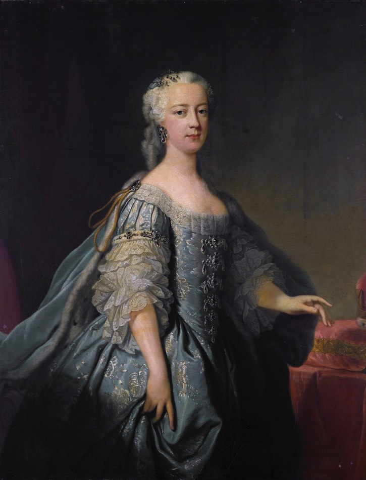 ca. 1738 Princess Amelia of Great Britain by Jean-Baptiste van Loo (auctioned by Sotheby's) Wm removed cracks