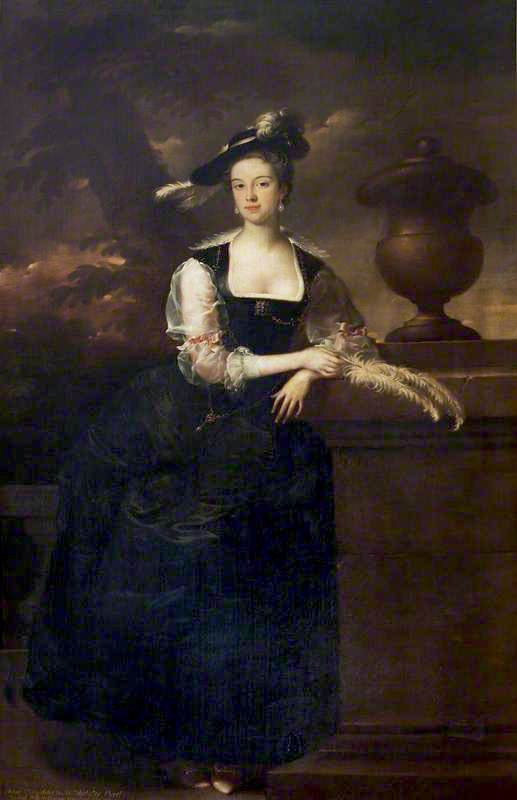 ca. 1740 Anne Lee, Mrs George Venables-Vernon by Joseph van Aken (location ?) From the-athenaeum.org
