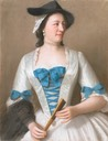 ca. 1746 Jeanne Elisabeth de Sellon (1705-1749), Lady Tyrell, by Jean Étienne Liotard (Rijksmuseum - Amsterdam, Holland) Wm UPGRADE