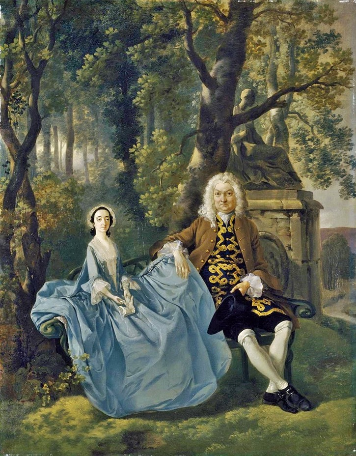 ca. 1747-1748 Mr. and Mrs. Carter by Thomas Gainsborough (location ?) From bjws.blogspot.com:2015:06:portraits-of-couples-families-in.html
