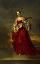 ca. 1750 Caroline Darcy, wife of William Kerr, 4th Marquess of Lothian with guitar by Joseph Anton Adolf (National Galleries of Scotland, Edinburgh Scotland)