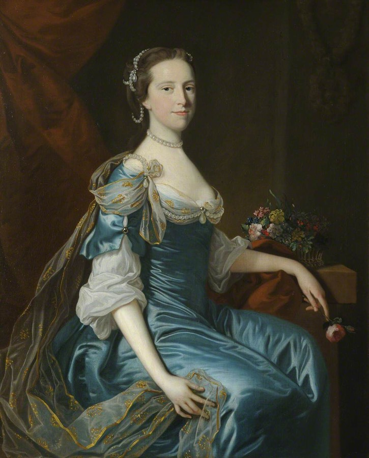 ca. 1755 Catherina Freman (1736:1737–1759), the Honourable Mrs Charles Yorke by Thomas Hudson (Wimpole Hall - Arrington, Royston, Cambridgeshire, UK) From artuk.org