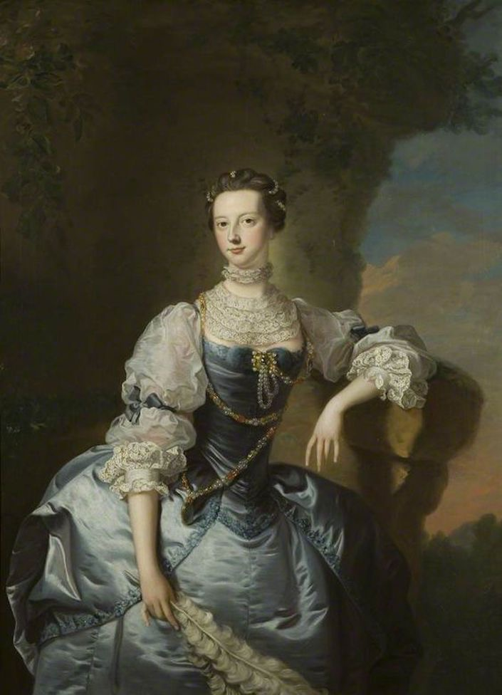 ca. 1755 Mrs Emma Harvey, née Skynner, by Thomas Hudson (Bristol Museum and Art Gallery - Bristol, Bristol County, UK) From phttps:::www.pinterest.com:vinodrajpurohit:royal-people: X 1.25 #126723