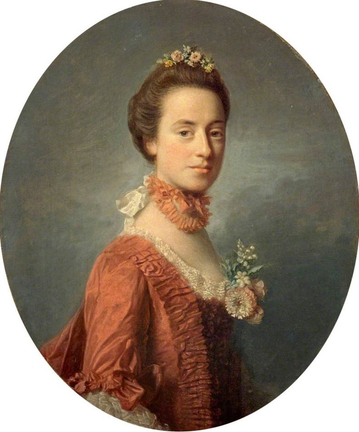 ca. 1756 Mary Digges, Lady Robert Manners by Sir Allan Ramsay (National Galleries of Scotland - Edinburgh, UK) From