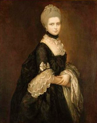 ca. 1763 Maria Walpole, Countess of Waldegrave, later Duchess of Gloucester in a black mourning dress by Thomas Gainsborough (Dunedin Public Art Gallery - Dunedin, Otego Region, New Zealand)