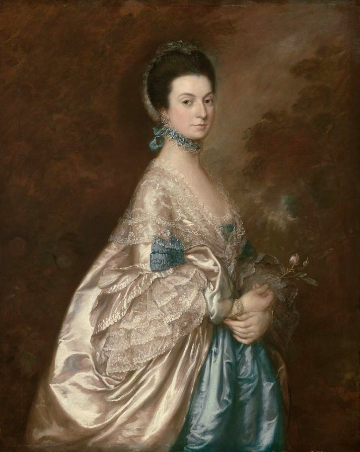 ca. 1765 Mrs. Edmund Morton Pleydell by Thomas Gainsborough (Museum of Fine Arts - Boston, Massachusetts, USA) From a-l-ancien-regime.tumblr.com/post/26137610033/thomas-gainsborough-mrs-edmund-morton-pleydell
