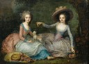 """ca. 1770"" Traditionally called Marie Antoinette and Mme. de Lamballe by ? (auctioned by Sotheby's) From servimg.com:view:19572965:142 despot deflaw X 1.5"