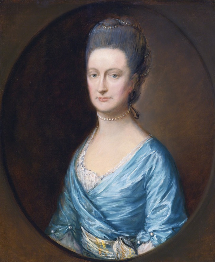 ca. 1772 Caroline, Lady Fludyer by Thomas Gainsborough (auctioned by Sotheby's) Wm