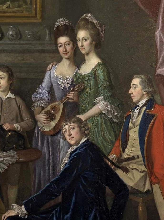 ca. 1776 Sir James & Lady Hodges and their family by Sir Nathaniel  Dance-Holland (Cincinnati Art Museum - Cincinnati, Ohio, USA) the Hodges girls