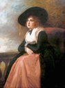 ca. 1782-1785 Emma Hart in mourning dress by George Romney (was at National Portrait Gallery - London UK current location unknown to gogm)