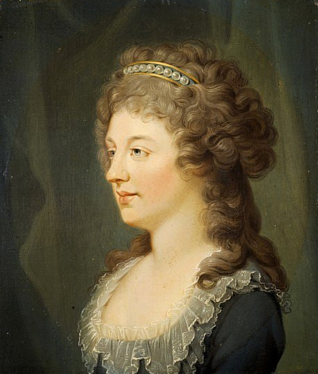 ca. 1785-1786 Charlotte Stuart, Duchess of Albany, 1753 - 1789. Daughter of Prince Charles Edward Stuart by Hugh Douglas Hamilton (Scottish National Portrait Gallery - Edinburrgh, Scotland) museum nationalgalleries.org/object/PG 623
