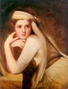 ca. 1785 Emma Hamilton as a Bacchante by George Romney (National Portrait Gallery - London UK)