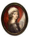 ca. 1785 Georgiana, Duchess of Devonshire miniature by Andrew Pilmer (location ?) From portraitminiature.blogspot.com/2009_05_01_archive.html