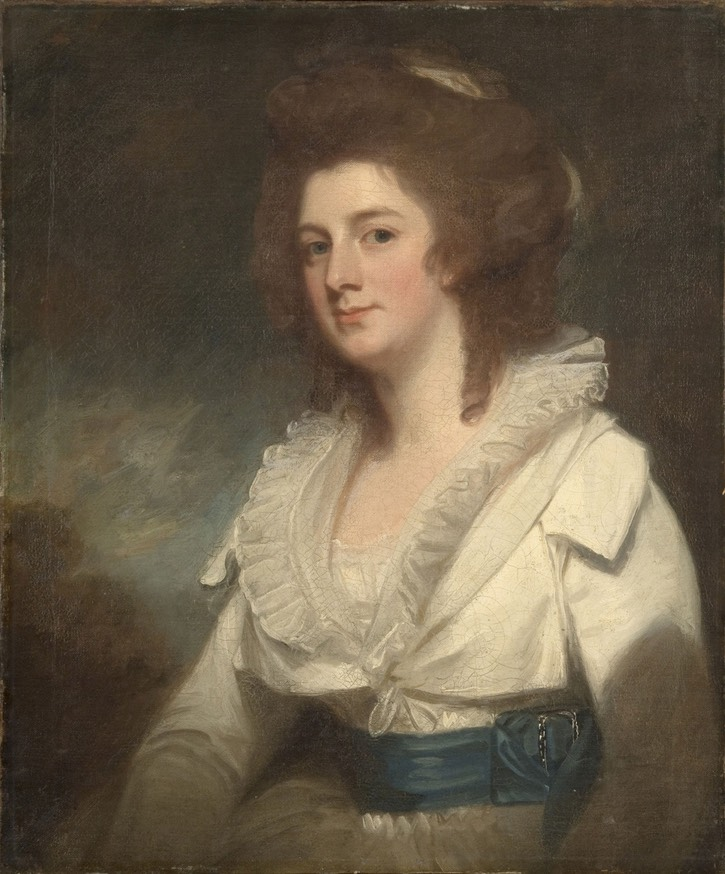 ca. 1785 Honorable Mrs. Beresford by George Romney (Philadelphia Museum of Art - Philadelphia, Pennsylvania, USA) From pinterest.com/andrewschroeder/1780s-art/.jpg