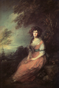 ca. 1785 Mrs Richard Brinsley Sheridan, née Elizabeth Ann Linley by Thomas Gainsborough (National Gallery - London UK)