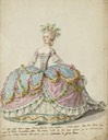 ca. 1787 Robe de cour by Charles-Germain de Saint-Aubin (Les Arts Decoratifs - Paris, France) From museum Web site X 2