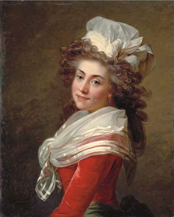 ca. 1790 Marquise de Grécourt, née de la Fresnaye by Jean Laurent Mosnier (auctioned by Christie's) From the Christie's Web site)
