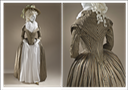ca. 1790 Woman's redingote, Europe, circa 1790. Silk and cotton satin and plain weave (Los Angeles County Museum of Art - Los Angeles, California USA)