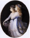 ca. 1791 Georgiana, Duchess of Devonshire with Lady Elizabeth Foster by Jean Urbain Guérin (Wallace Collection - London UK)