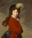 ca. 1795 Princess Juliane of Saxe-Coburg-Saalfeld by Élisabeth Louise Vigée-Lebrun (destroyed by aerial bombardment in World War 2)