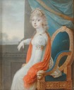 ca. 1799 Madame Royale in white and scarlet by Johann Maria Monsorno (Boris Wilnitsky)