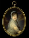 ca. 1810 Probably Sophie Countess Potocka by Christian Ahrbeck (Bomann Museum, Tansey Collection of Miniatures - Celle, Niedersachsen Germany)