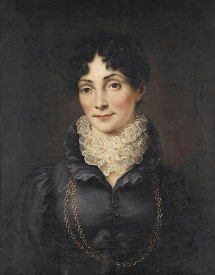ca. 1815 Herzogin Charlotte von Sachsen-Hildburghausen, née Mecklenburg-Strelitz, by Heinrich Vogel (location unknown to gogm) Wm X 2