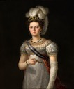 ca. 1820 Maria Josepha of Saxony, Queen of Spain by Francesco Lacoma y Fontanet (Museo Nacional del Prado - Madrid, Spain) Wm