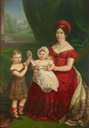 ca. 1823 (estimate based on ages of children) of HRH Augusta, Duchess of Cambridge, with George in Scottish attire and Augusta of Cambridge by ? (location ?) From the lost gallery's photostream on flickr