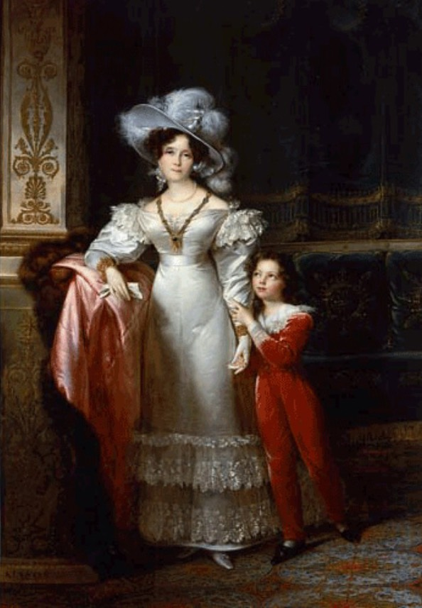 ca. 1825-1830 Comtesse de MacMahon and Her Grandson Jules de Bessequier by François Joseph Kinson (auctioned) UPGRADE From wannabemagazine.com:istorija-mode-romantizam:page:4:
