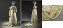 ca. 1825 Potuguese court dress (Los Angeles County Museum of Art - Los Angeles, California USA) front and side