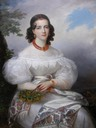 ca. 1828 German Princess by François-Joseph Kinsoen (Bowes Museum - Barnard Castle, County Durham, UK) Wm removed dimpled canvas along top fifth