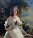 ca. 1842 Victoire, Duchesse de Nemours, Prinzessin von Sachsen Coburg Gotha by or after Franz Xaver Winterhalter (location ?) From the lost gallery's photostream on flickr