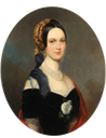 ca. 1845 Lady from family of Counts von Hoensbroech by Franz Schrotzberg (for sale by Boris Wilnitsky) From the gallery's Web site despot deprint erased surround