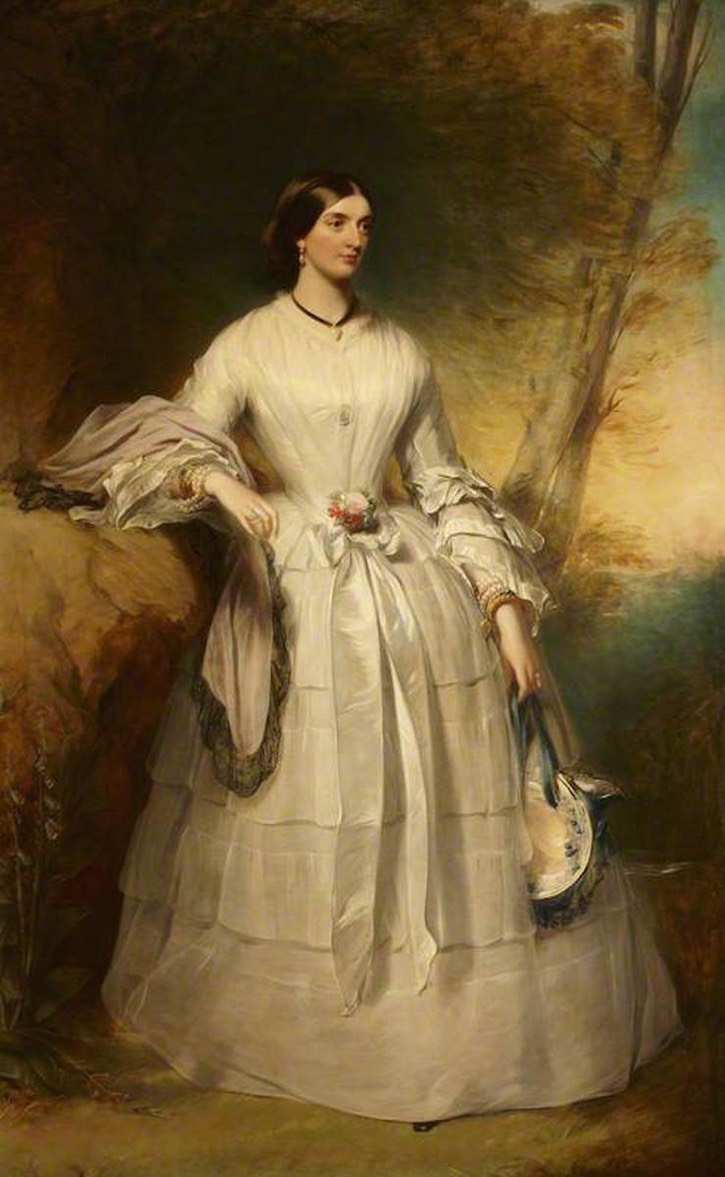 ca. 1847 Lady Alexandrina Octavia Maria Vane (1823–1874), Countess of Portarlington by James Godsell Middleton (Mount Stewart - Newtownlands, County Down, Northern Ireland) From bbc.co X 1.5