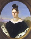 ca. 1847 Maria Antonia of the Two Sicilies by Giuseppe Bezzuoli (Galleria d'Arte Moderna - Firenze Italy)