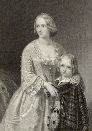 ca. 1851 Elizabeth Georgina Campbell, Duchess of Argyll with her son by William Henry Mote after William Salter Herrick (National Portrait Gallery - London, UK) Wm